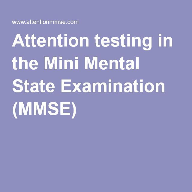 Attention testing in the Mini Mental State Examination (MMSE)