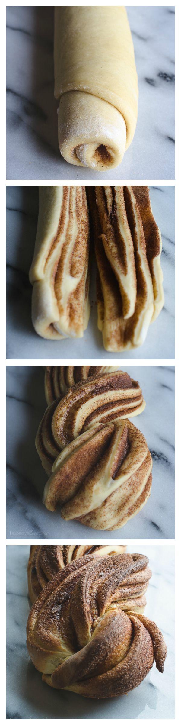 Cinnamon Nog Twist Bread | @tasteLUVnourish