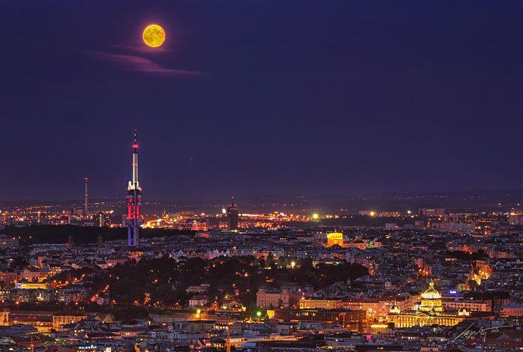 Prague Moon by Marek Kijevský on 500px