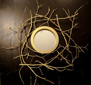 Hirondelle Rustique: DIY: Gold Branch Mirror Tutorial