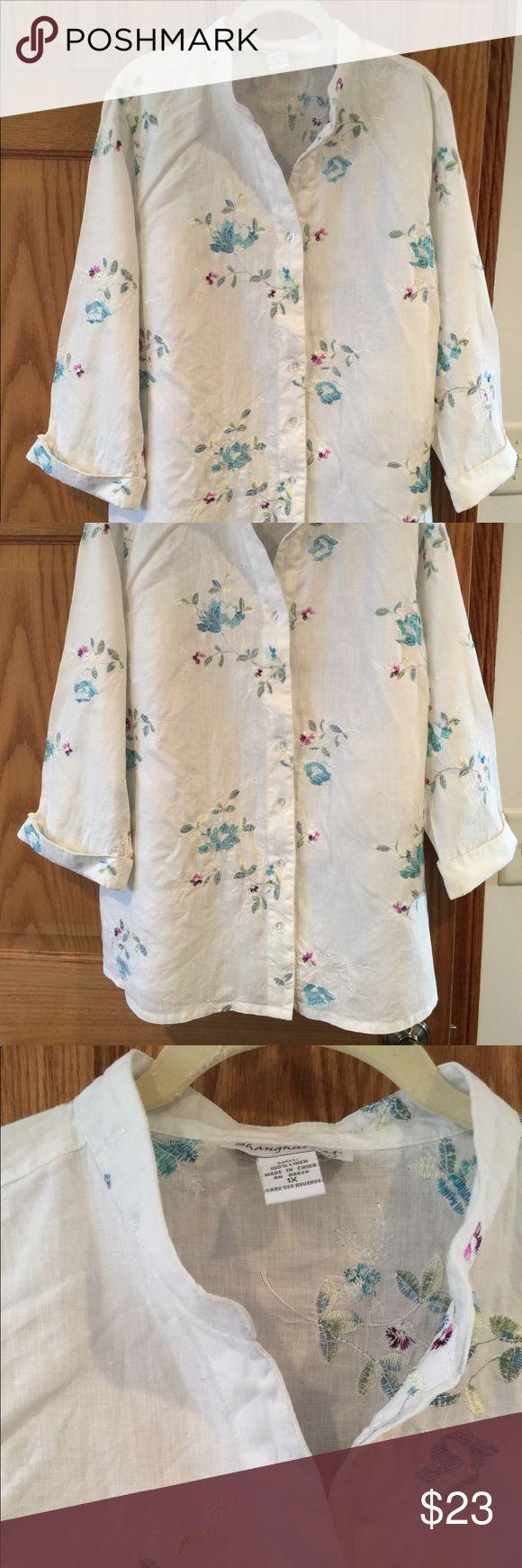 Linen Blouse With Embroidery 1x Linen Blouse Clothes Design Fashion Design