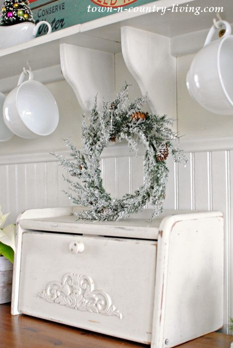 Christmas in a Farmhouse Kitchen
