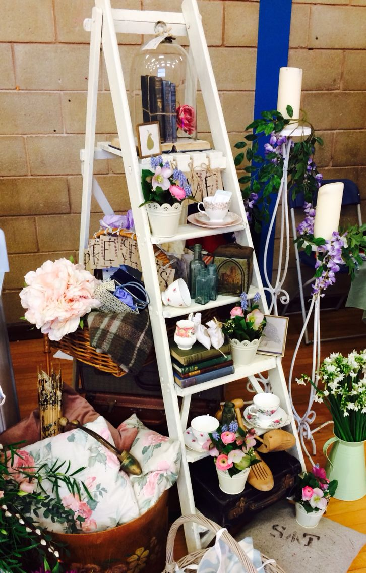 Vintage props display for weddings - Proper Vintage IOW.