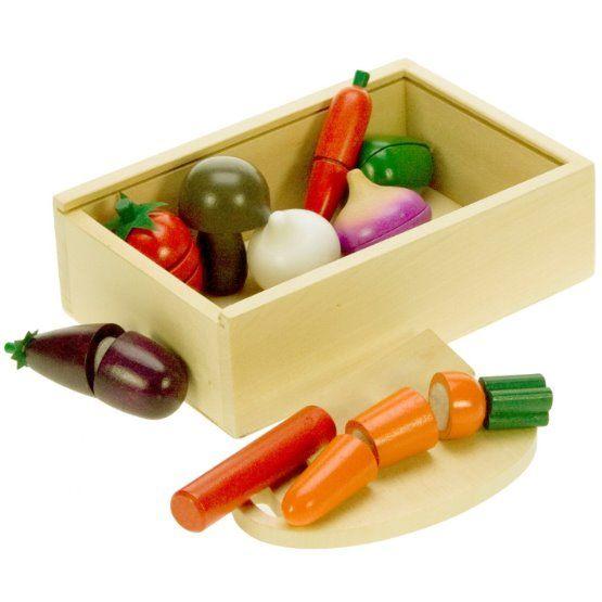 Bigjigs -  Krájení zeleniny v krabičce