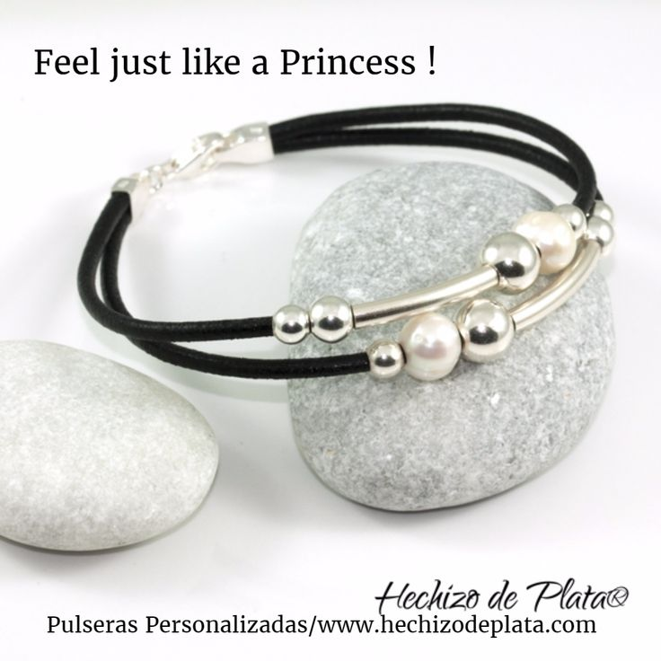 Pulseras personalizadas de Hechizo de Plata  Cuero español y plata de 1ª ley.  TU las haces únicas.
