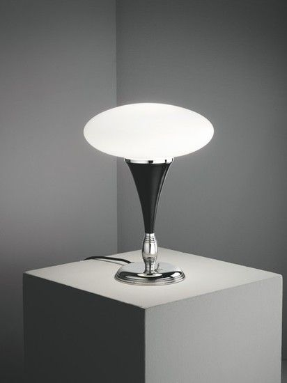 Agaricus Black Table Lamp    The streamline moderne homage is designed to be tough and durable just like it's predecessors in the 1950's, an ideal addition to any mid-century i... view details on www.treniq.com