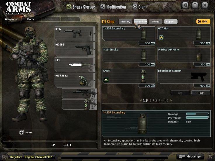 Combat Arms UI