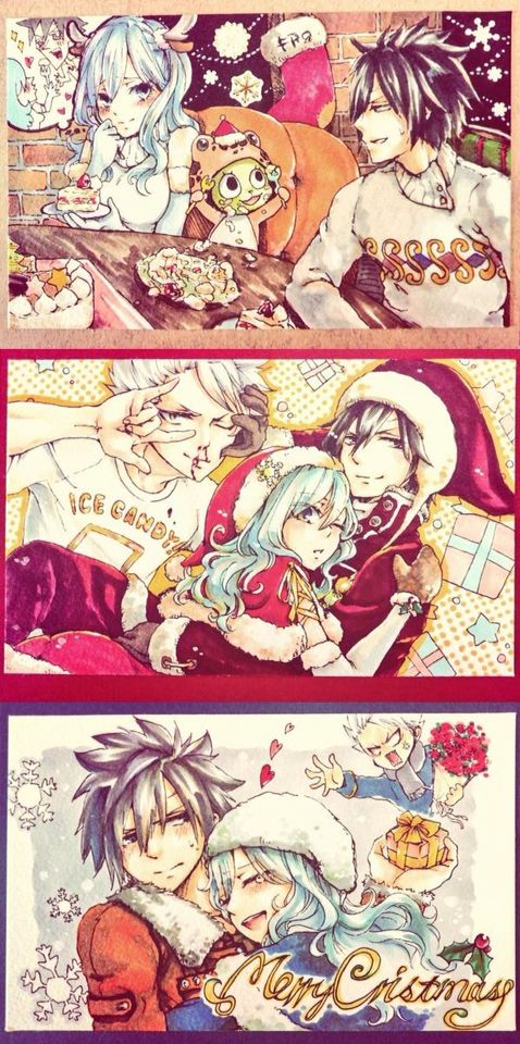 Gruvia with a hint of Lyon in the middle pic xD