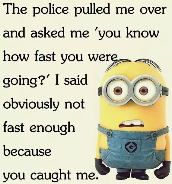 Getting pulled over for speeding