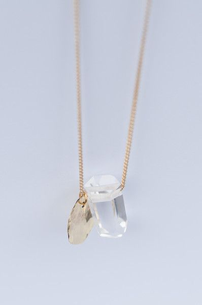 MIRAGE CLEAR CRYSTAL NECKLACE https://www.matteroffakt.com/collections/mirage