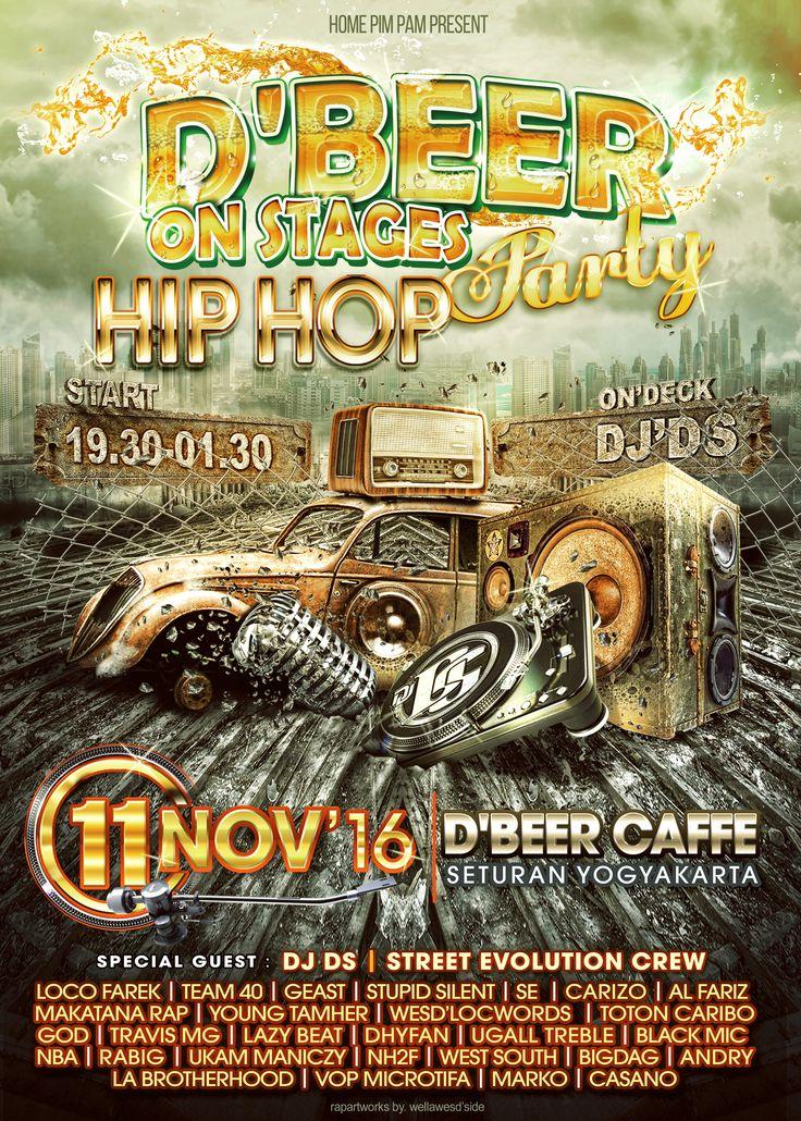 D'Beer Hip HOp Flyer 2016