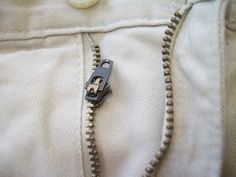 How to Fix a Broken Zipper. My sipper on my favorite pants broke last week. Now I can fix it :)