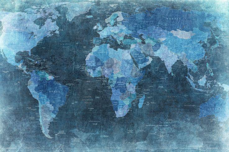 Best 25 world map wallpaper ideas on pinterest world for Cool mural wallpaper