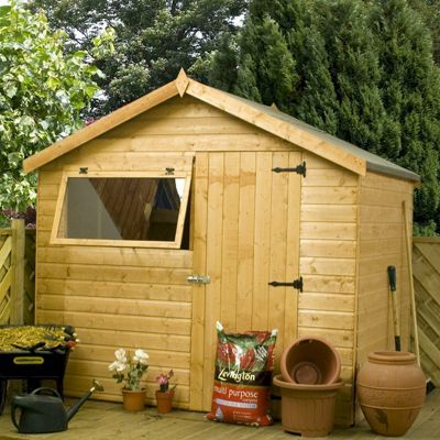 Millbrook Classic Shiplap Apex Shed 6x8   One Garden