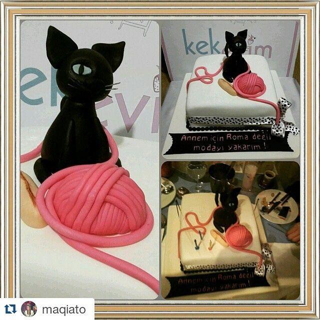 #Repost @maqiato ・・・ Sezarin ekmegine kadar yapilmis  en guzel pasta benim pastam @kekevim  @maqiato sevdiklerinle geçireceğim kocaman mutlu bir hayatın olsun  #cat #cake #break #birthday #tagsforlikes #kekevim