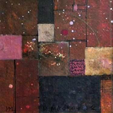composition with pink spot