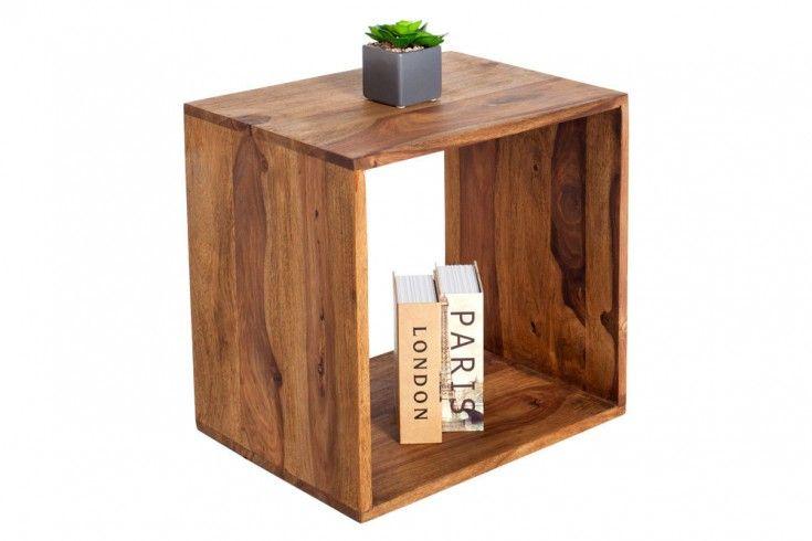 Massivholz Beistelltisch Makassar 45cm Sheesham Stone Finish Regal Riess Ambiente De Sheesham Mobel Holz Und Regal Design