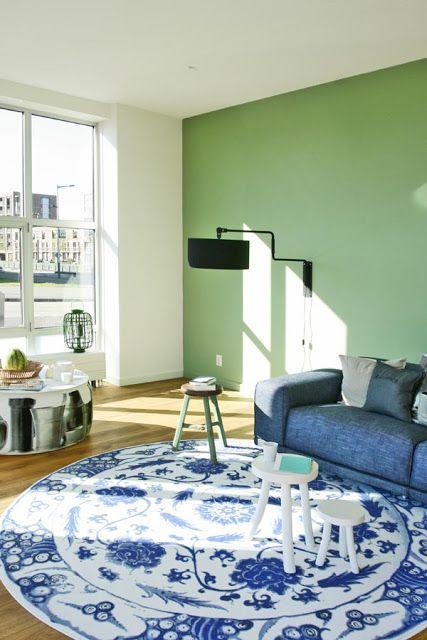 Groen combineert ook goed met blauw   Via villa d'Esta