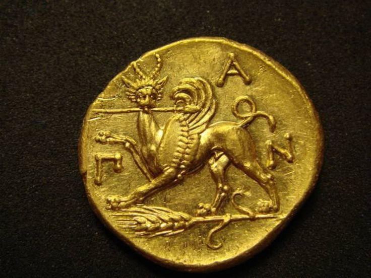 Gold #Stater, #Panticapaeum, 370 BC - 350 BC Original Weight: 9.1 grams   private Collection  Eastern Europe