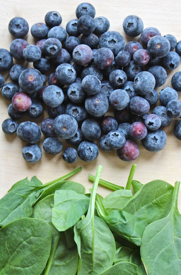 Spirulina Smoothie  Makes one glass  - 1 ripe banana  - 1 cup of frozen blueberries (I buy them fresh then freeze them)  - 1 cup of spinach  - 1 cup of kale  - ...