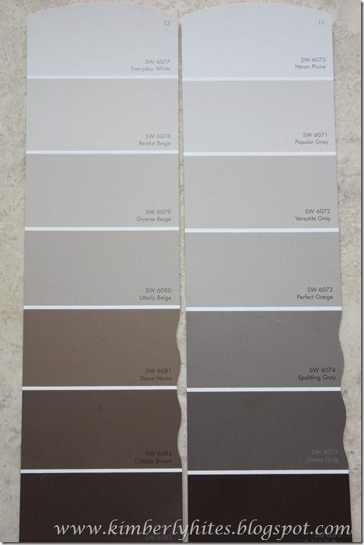 Duluxe greige colour palet