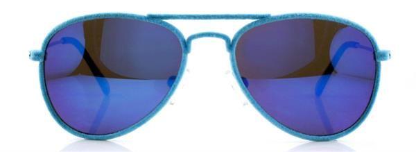 Gafa niño 41 Eyewear - MR. FRAMES JR.  Gafa piloto terciopelo (acabado efecto terciopelo en el frente) en color azul turquesa. Terminales azul turquesa mate.
