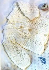 Bildergebnis für chambritas tejidas en dos agujas con canesu de hojas y punto cola de pavo