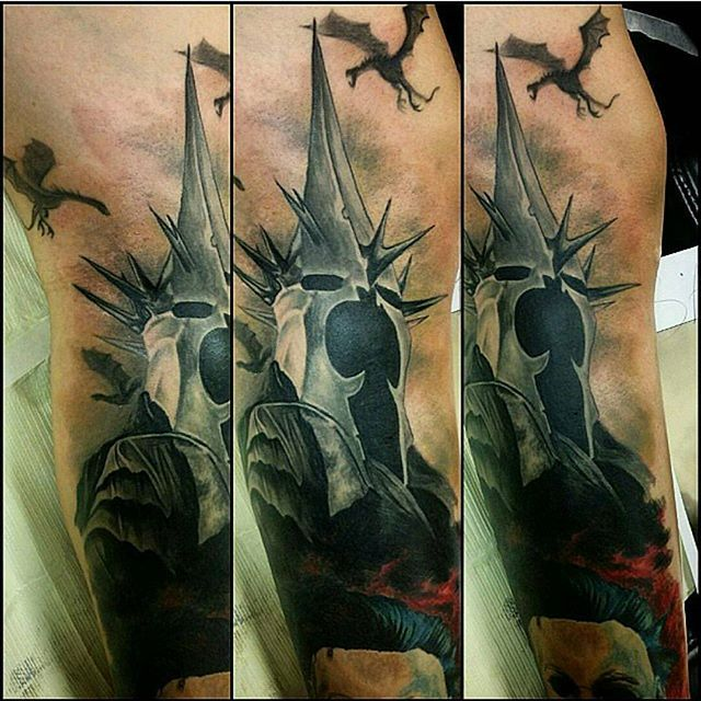 Witch King Tattoo On Guy S Chest: The Witch King Of Angmar. Great Work Done By