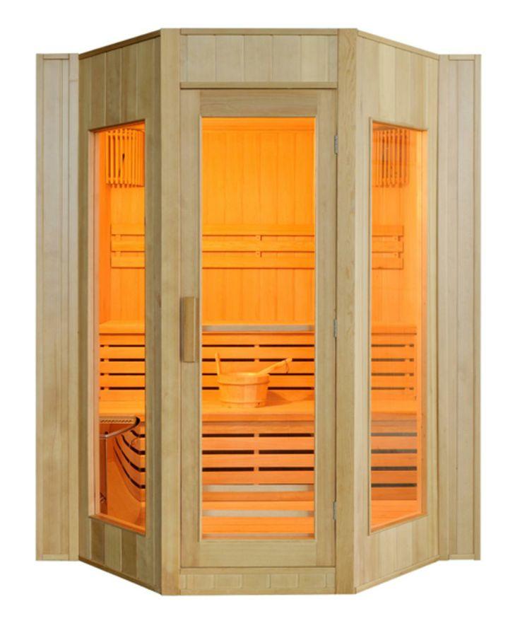 Sauna traditionnel finlandais au design contemporain – 4/5 places - DETENTE - Tek Import : www.tekimport.fr
