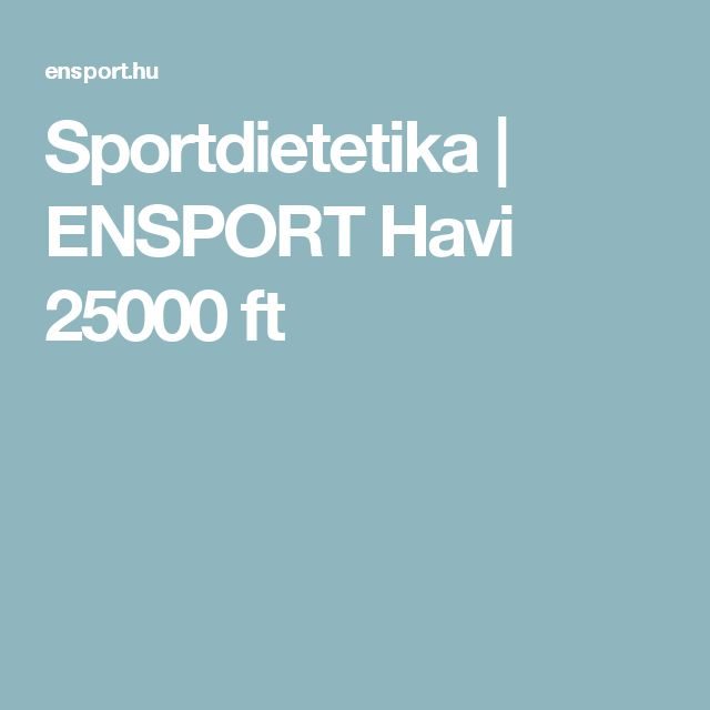 Sportdietetika   ENSPORT Havi 25000 ft