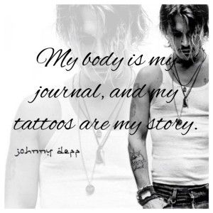 Tattoo quote by johnny depp images