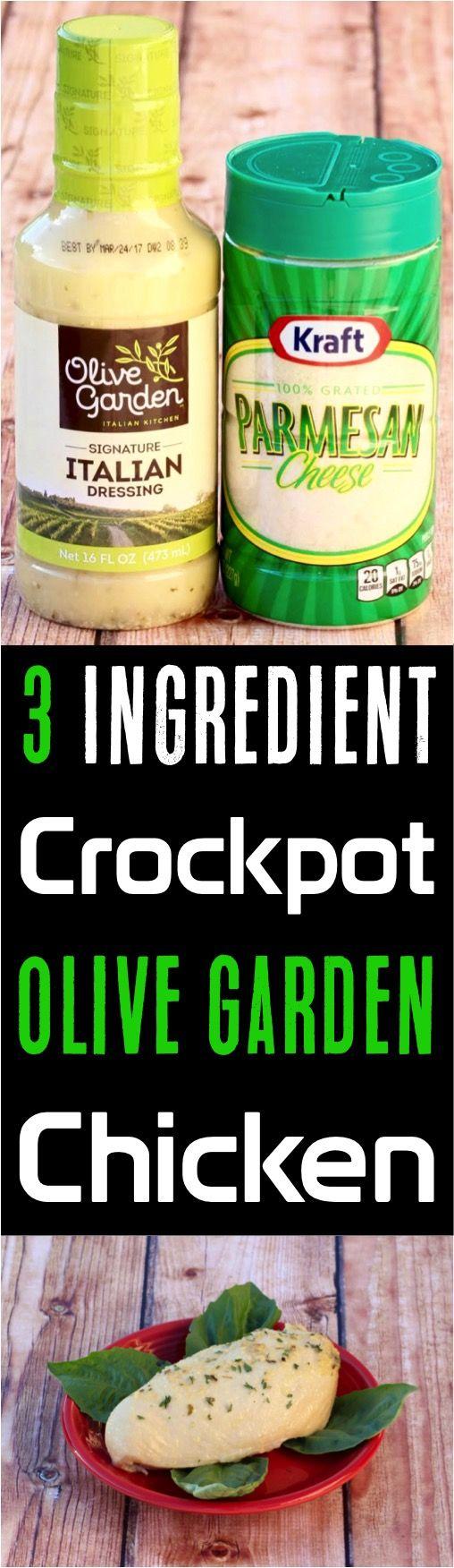 Crockpot Olive Garden Chicken Recipe! {3 Ingredients