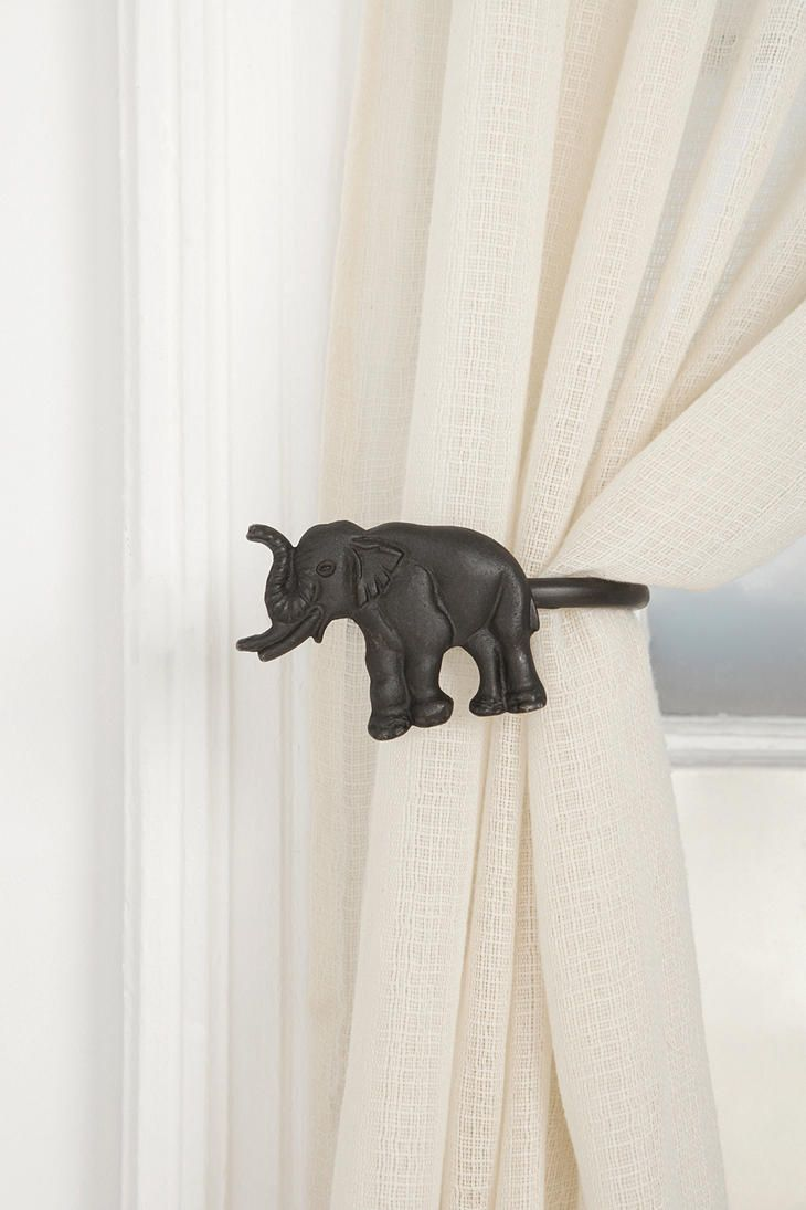 Curtain hardware tiebacks - Let The Sun Shine Through Those Windows As These Elephant Tie Backs Hold Your Thinking