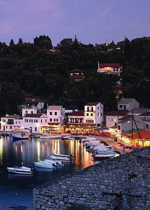 Loggos at dusk, Paxos Island, Greece