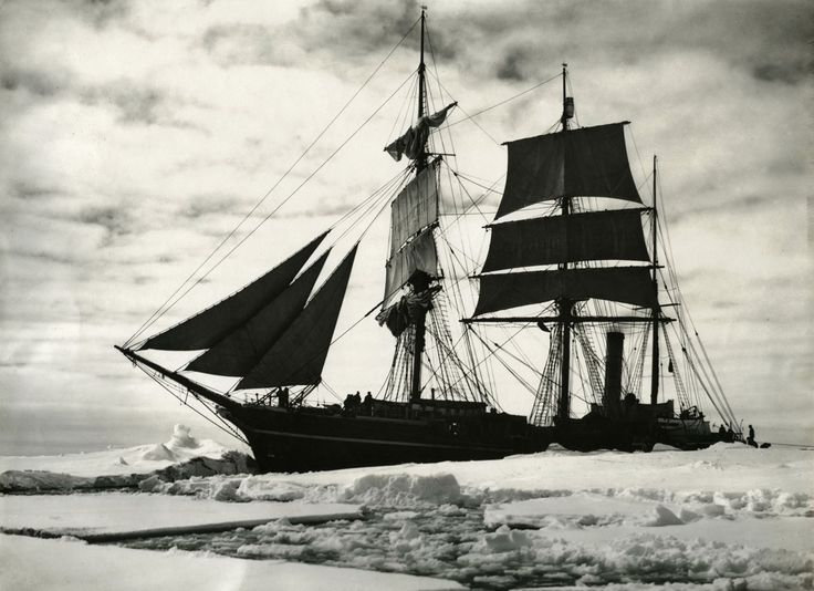 Awesome pic.... British Naval officer Robert Falcon Scott's mission to the South Pole in the early 1900s