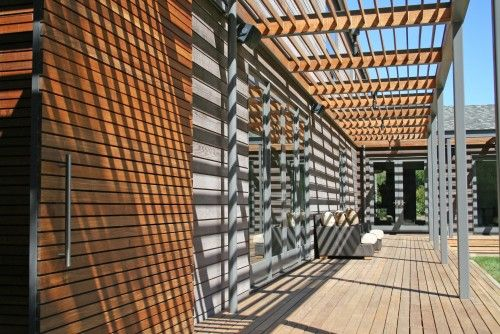 Wood And Aluminum Longitudinal Narrow Steel Frame