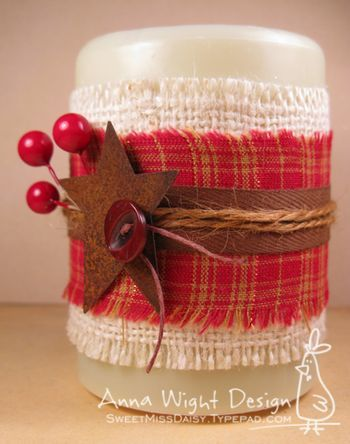Candle sleeves. I made some for Christmas gifts and they turned out so cute and were very simple to do.