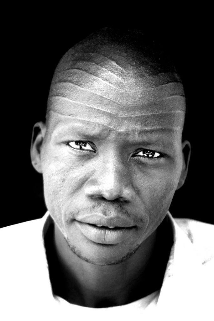 Africa |  Portrait of a Nuer man.  Ethiopia | © Lindsay Stark