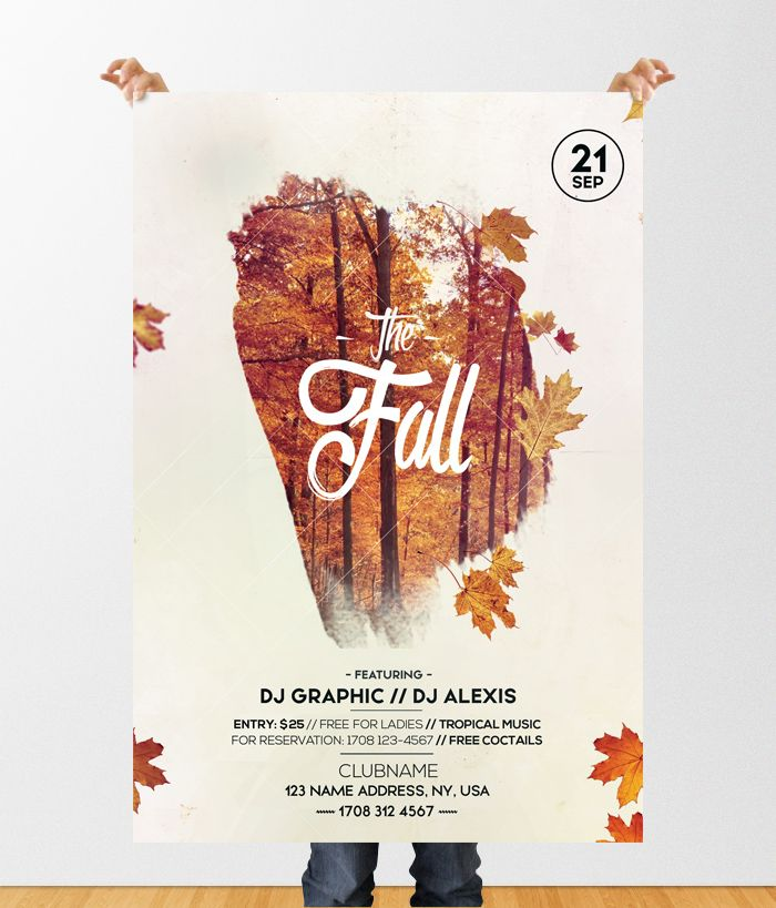 Fall Festival Autumn \u2013 Free PSD Flyer Template #flyers #posters