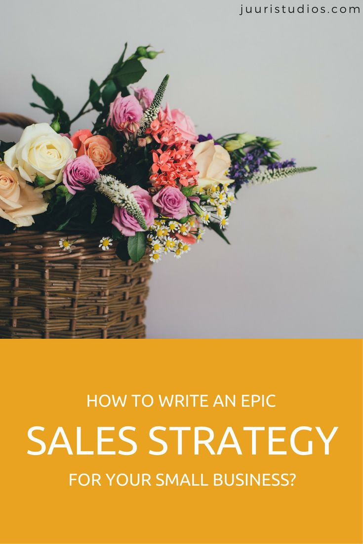 How to write an epic sales strategy for your small business