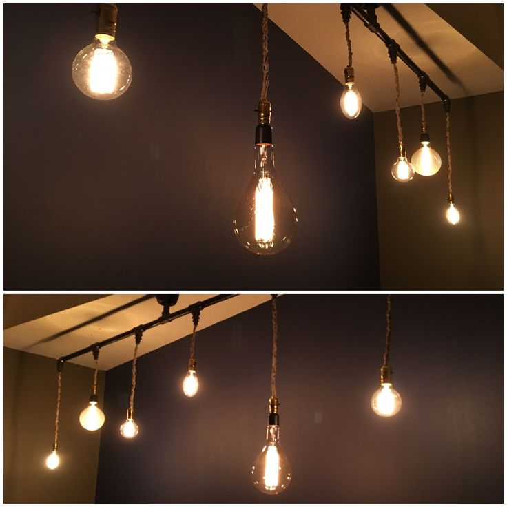 Pendant Light Ceiling Fixture  Black Iron Pipe and Edison Bulbs! A wonderful upgrade from our track lighting. Manila Rope was used to braid around the ...  sc 1 st  Pinterest & Best 25+ Wire track lighting ideas on Pinterest | Hanging light ... azcodes.com