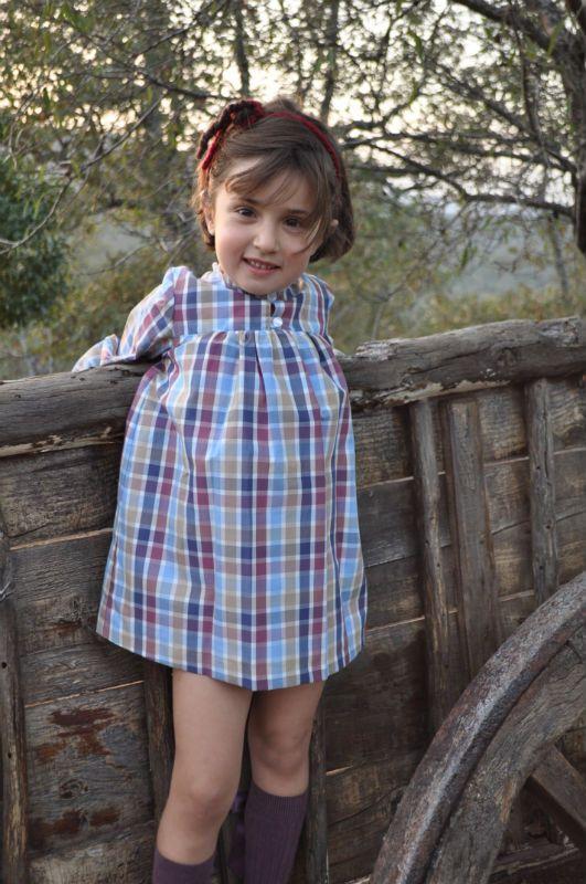 Vestido FOQUE, bluson cuadros, muy combinable por su amplia gama de colores otoñales.sencillo pero muy bonito