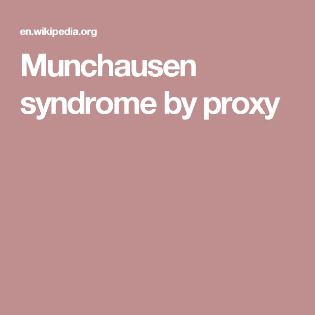 an introduction to the mental disorder munchausen by proxy Munchausen syndrome by proxy is a mental illness and a form of child abuse the caretaker of a child, most often a mother, either makes up fake symptoms or causes real symptoms to make it look like the child is sick.