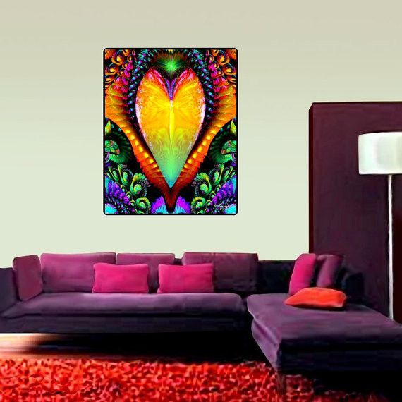 Rainbow R Room: Chakra Wall Art, Reiki Healing Decor, Psychedelic Tapestry