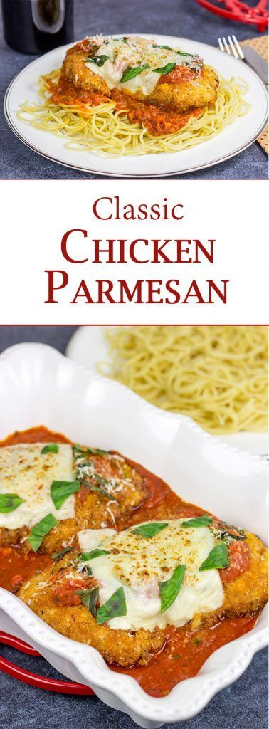 """Chicken parm, you taste so good!"" This {Classic Chicken Parmesan} recipe is the perfect comfort food for chilly winter days! #comfortfood #chickenparm #chickendinner #italian"