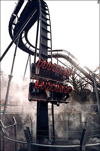 Oblivion   Alton Towers scary!!! won tickets x 4 twice so 8 tickets and fasttrack Smiler Tickets with twitter June 2013