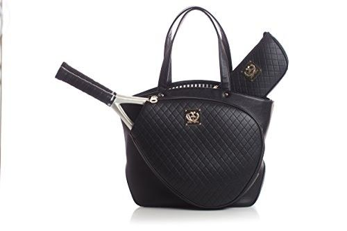 Luxurious and elegant Ladies step on the court with your own style with the  Court-Couture-Cassanova-Quilted-Tennis-Bag-Black. @luxurytennisclub.com