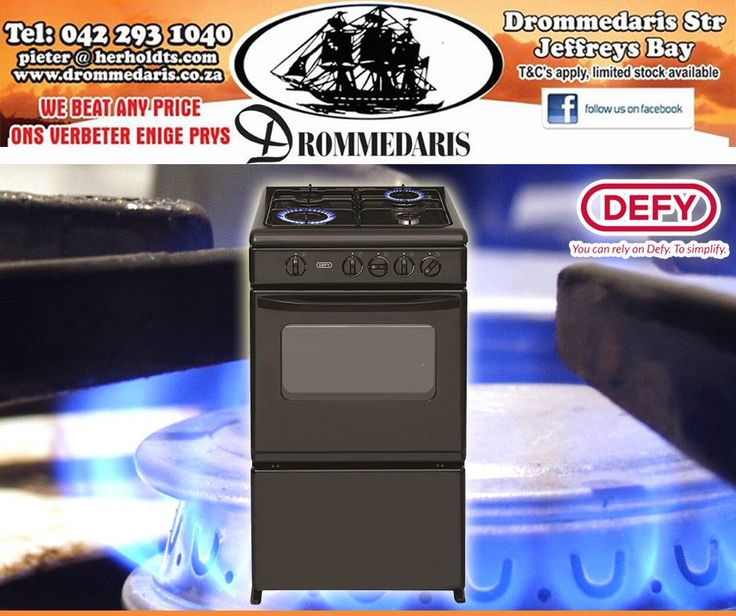 Get down to #Drommedaris now for incredible savings on selected stoves, like the #Defy full gas stove with flame failure safety for only R2195! Offer valid while stocks last, E&OE. Click on the link to view more specials: http://apost.link/32q. #appliances #lifestyle