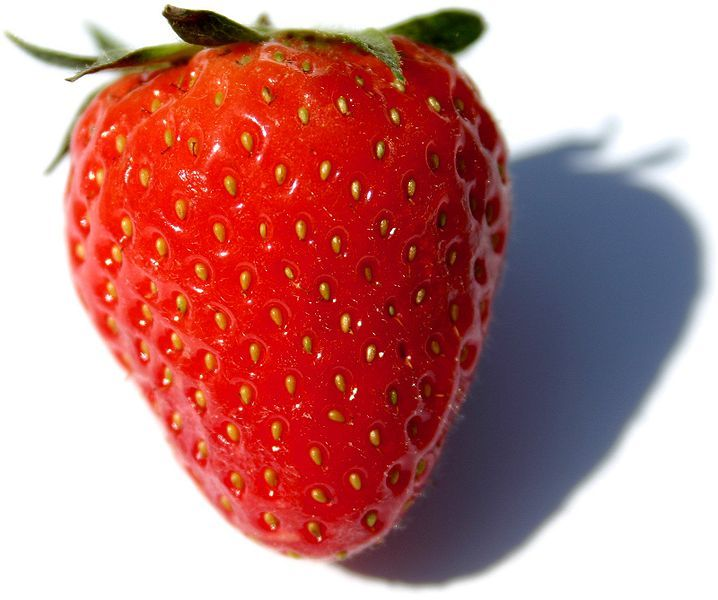 """How to Whiten Your Teeth with a Strawberry""  [Picture is unrelated and from commons.wikimedia... ]"