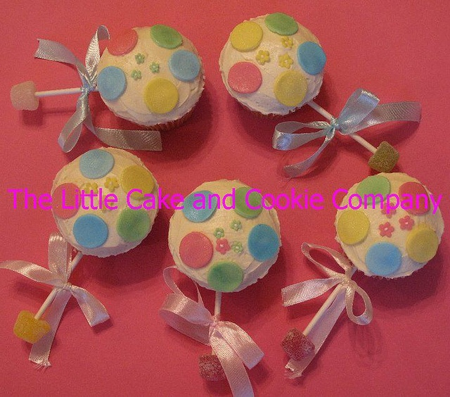 Baby Rattle Cupcakes by Little Cake and Cookie, via Flickr